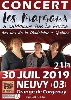 L'affiche du concert avec Les Margaux