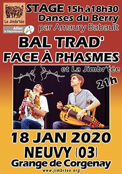 L'affiche du stage danses du Berry et du Bal avec FACE à PHASMES